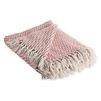 Dii blush rosa Zig-Zag werfen Decke