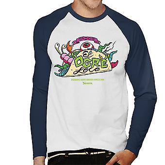 Shrek Tacos El Ogre Loco Mænd's Baseball Langærmet T-shirt