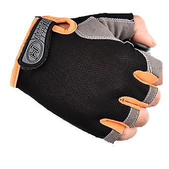 Cycling, Bicycle, Bike Gloves, Anti Slip, Shock, Breathable, Half Finger, Short