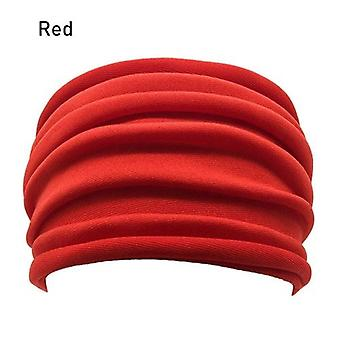 Nonslip Elastic Folds Yoga Hairband Wide Sports Headband