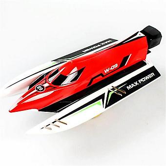Machine Radio Controlled Brushless Motor High Speed Racing Boat  (red)