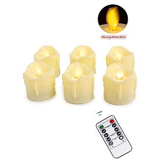 Remote / Not Remote Flameless Dancing Led Candles Warm Battery Operated Moving