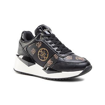 Shoes Women's Sneaker Guess Tesha Running Bronze/ Black Ds21gu21 Fl5tesfal12
