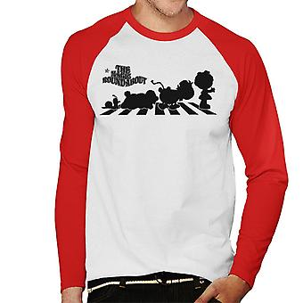 The Magic Roundabout Personages Silhouette Men's Baseball T-Shirt met lange mouwen