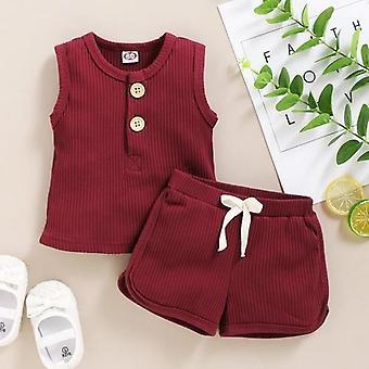 Vest Tops+shorts Outfits Set