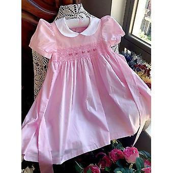 الأميرة أنيقة ثوب القطن الأنيق أطفال الصلبة اليدوية