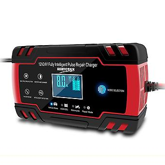 Car Battery Charger, Fully Automatic, Smart, Fast, For Agm Gel Wet Lead Acid,