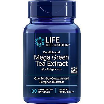 Livsförlängning Mega Grüntee-Extrakt 100 Veggie-Kapseln