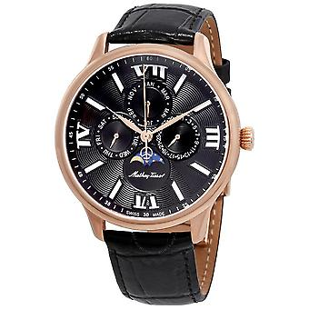 Mathey-Tissot Edmond Moon Phase Black Dial Men's Watch H1886RPN
