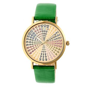 Crayo Fortune Gold Dial Green Leatherette Watch CRACR4304
