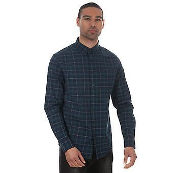 Men's Farah Mackay Long Sleeve Shirt in Blue