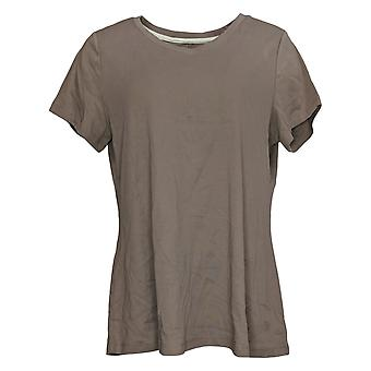إسحاق مزراحي لايف! Women's Top Essentials Pima V-Neck Tee Brown A380859