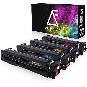 4 Wokex Toner kompatibel mit HP CF540X CF541X CF542X CF543X fr Color Laserjet Pro M-280nw M-281fdn
