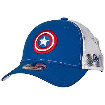 Captain America Symbol Trucker New Era 9Forty Chapeau réglable