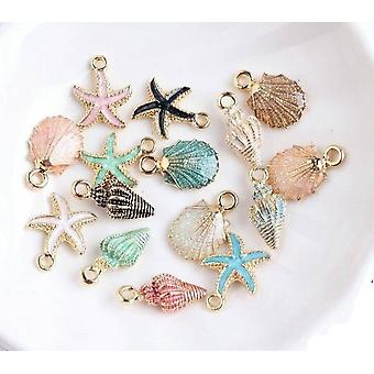 Sea Shell Charms+ Pendants+ Starfish  Bracelet Necklace  Handmade Accessories