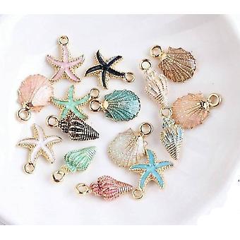 Sea Shell Charms+ Pendants+ Starfish  Bracelet Necklace  Handmade Accessories