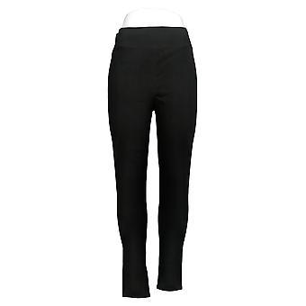 Denim & Co. Active Regular Duo Stretch Printed Leggings Black A386851
