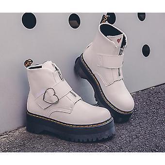 Mode lynlås flade sko, kvinde høj hæl støvler