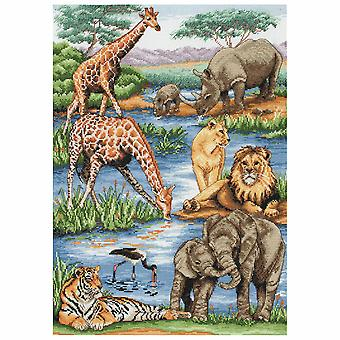 Anchor Counted Cross Stitch Kit: Maia Collection: African Wildlife