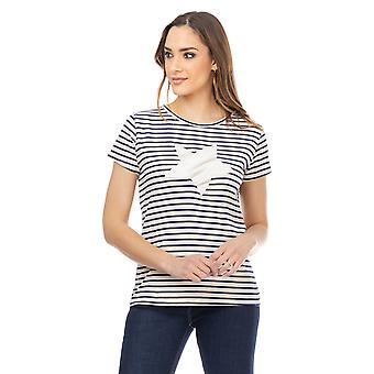 Gestreept t-shirt met ster