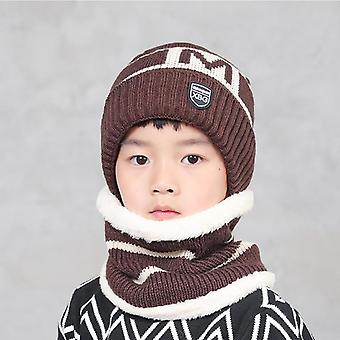 Windproof Wool Warm Hat Two-piece Protection Face Neck Ear Mask