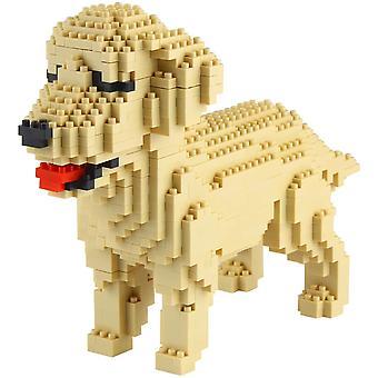 FengChun Mini Hund Bausteine Haustier Gebäude Spielzeug Ziegel, 950 Stück KLJM-02 (Golden Retriever)