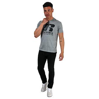 Men's Russell Athletic Logo Printed T-Shirt in Grey