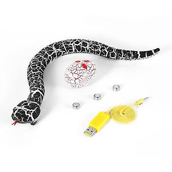 RC Remote Control Snake Christmas Terrifying Toys for Kid Funny Novelty Gift|RC Robot(Black)