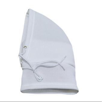 Biela zimná teplá jazda pletené vlnené klobúk x4467