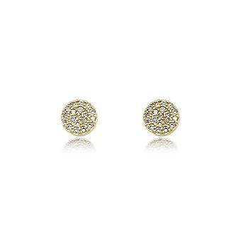 Boho betty ranaut clear cz gold stud earrings