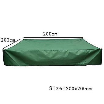 150 * 150Cm gårdsplass firkantet støvtett grønt spyttdeksel vanntett parasoll lite baddeksel dt5582