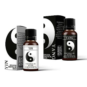 Mystic Moments Yin & Yang Essential Oil Blend Twin Pack (2x10ml)