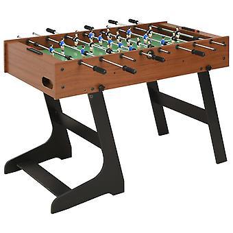 Fußballtisch zusammenklappbar 121X61X80 Cm Braun