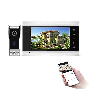 Jeatone 7inch Monitor Video Intercoms Home Security System