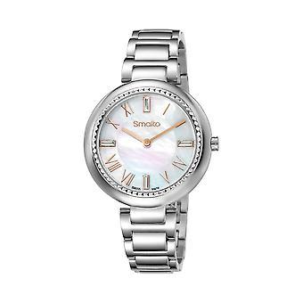 Watch Women Smalto mother-of-pearl dial - metal bracelet - 35 mm