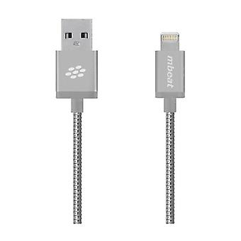 Mbeat Lightning Cable Silver Mfi Certified