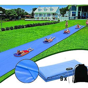 夏季泳池游戏的冲浪水滑梯垫草坪水滑梯