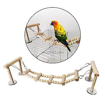 Holz Vogel Barsch Stand Spielzeug Papagei Schaukel Kletterleiter Sittich Nymphensittiche Turteltauben Finken Spielen Fitnessstudios Spielplatz