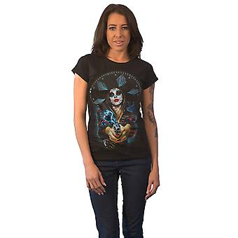 The Offspring T Shirt Bad Times Band logo new Official Womens Skinny Fit Black