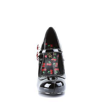 Pin Mujeres's Zapatos Up Blk Pat