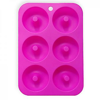Silicone Donut Mold For 6 Full-size Donuts, Bagels And More