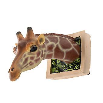 YANFAN 3D giraffe montado en la pared escultura arte vida-como marco de fotos decoración de la pared