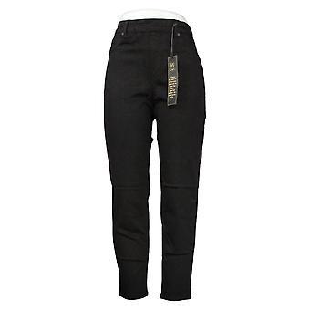 DG2 przez Diane Gilman Kobiet Petite Jeans Denim 5-Pocket Jegging Black 718711