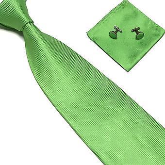 Accesorios de vestuario | Corbata + pañuelo + gemelos-Verde