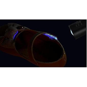 Akumulator Mini Portable Uv 365nm Fluorescencyjny Agent Wykrywanie Lampa (czarny)