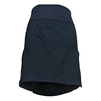 zuda Women's Petite Shorts Cityscape Skort w/ Pockets Blue A381038