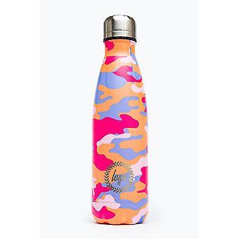 Hype Peach Camo Metall Wasserflasche
