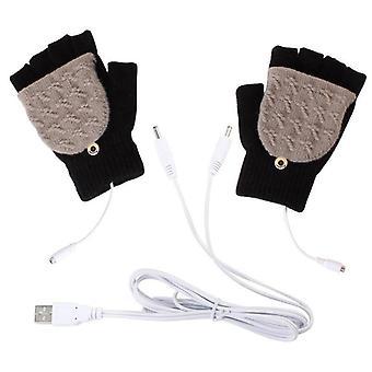Half Fingerless Electric Heating Gloves
