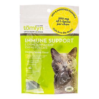 Tomlyn Imunitná podpora L-Lyzín Žuvačky pre mačky - 30 žuvačiek - (500 mg L-lyzín na žuvačku)