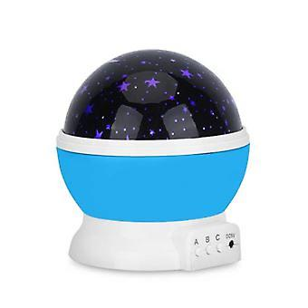 Starry Blue Rotating Led Night Light - Projector